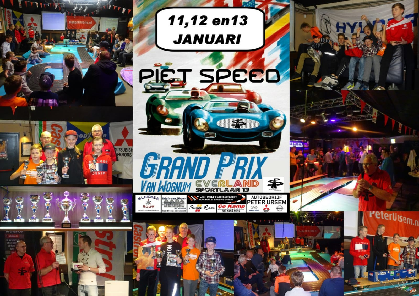 Foto collage van de Grand Prix van Wognum, gemaakt door JC Everland